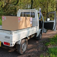 Suzuki Carry DD51T carrying a box