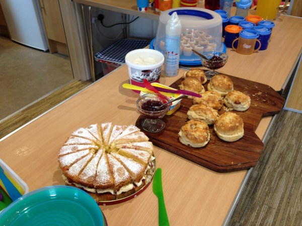 Come and eat cakes and scones