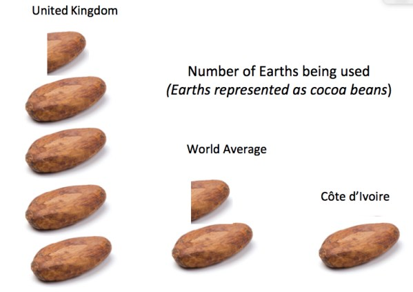 Cocoa bean comparison of environmental impact