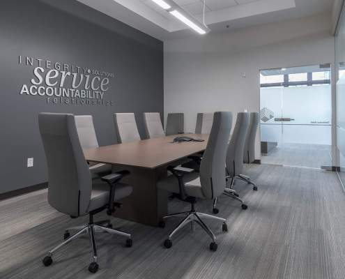 3d wall lettering in meeting room