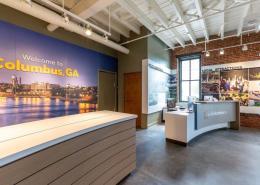 Branded Interior Reception Area