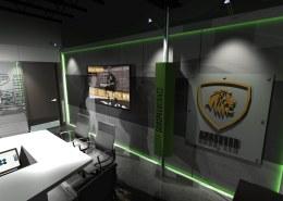 wall display with monitor
