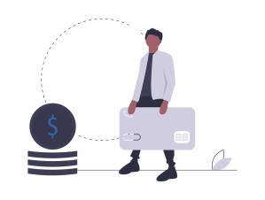 Illustration bargeldloses Bezahlen