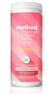 Pink Grapefruit All Purpose Cleaning Wet Wipes 30 ct Front