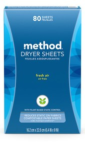Dryer Sheets 80 ct Fresh Air Box Front