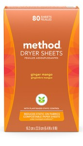 Dryer Sheets 80 ct Ginger Mango Box Front