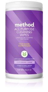 French Lavender All Purpose Cleaning Wet Wipes 70 count Front