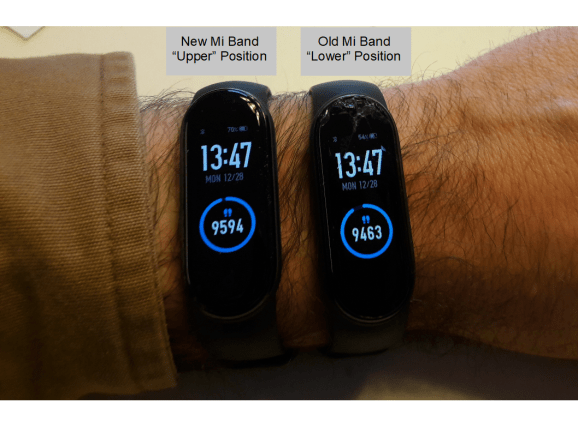 mi band positions