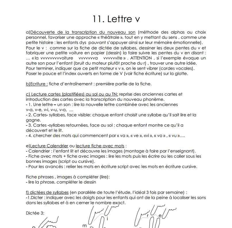 La lettre V