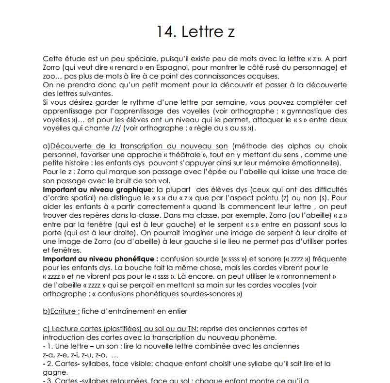 La lettre Z