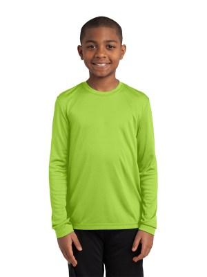 Method Screen Printing and Embroidery - Custom Printed Sport-Tek Youth Long Sleeve Athletic Shirt