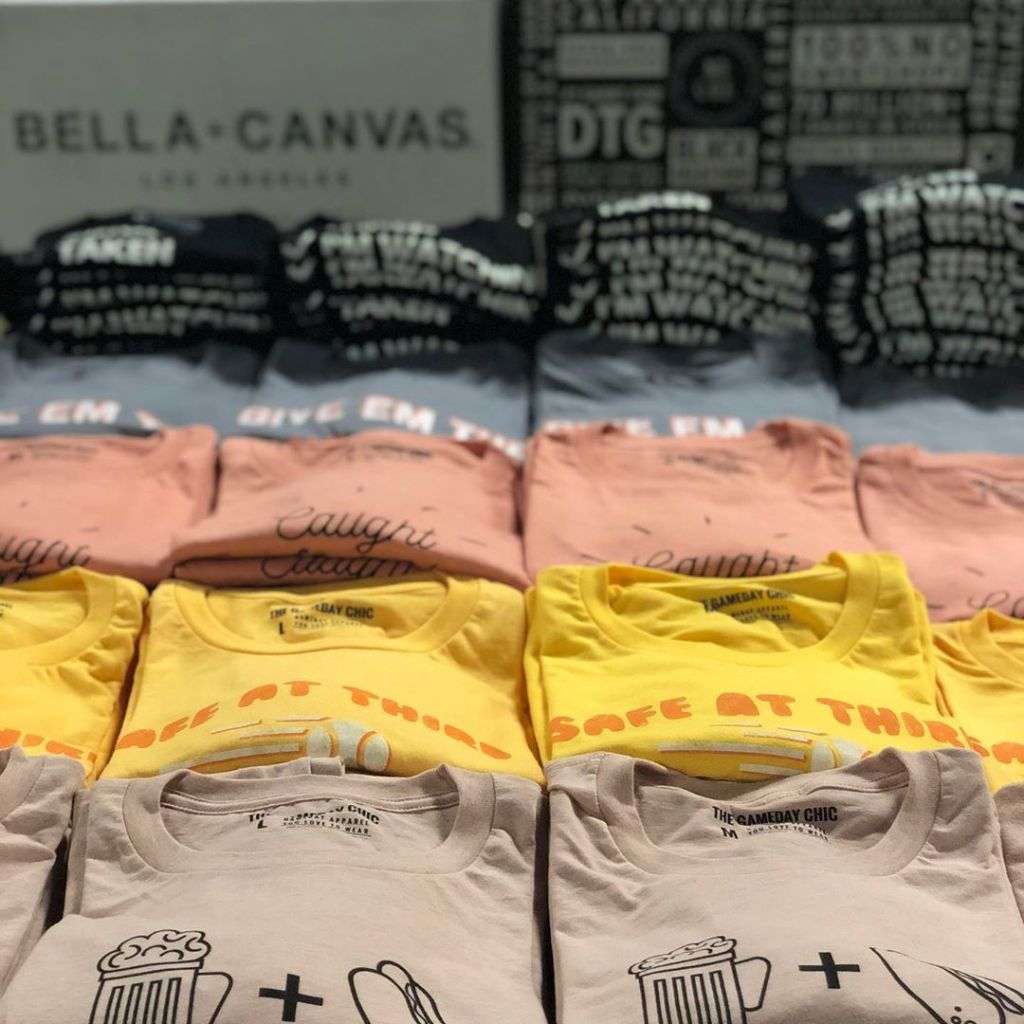 Custom Screen Printed Bella Canvas Shirts