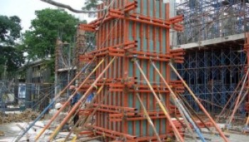 Installation Of Reinforcement Steel Bars For Footing, Strap