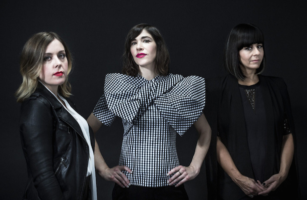 Corin Tucker, Carrie Brownstein and Janet Weiss of Sleater-Kinney in New York.
