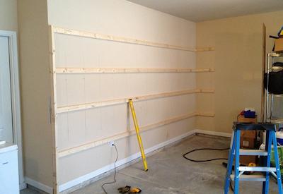 shelves not put up