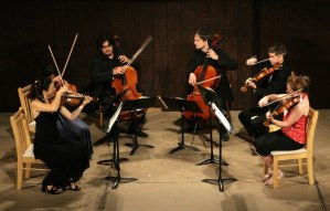 Musicians at the Festival played the exuberant Brahms sextet.