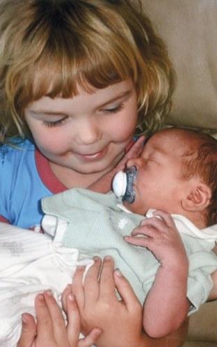 Zachariah Isaac Powidzki and big sister Zephyr.