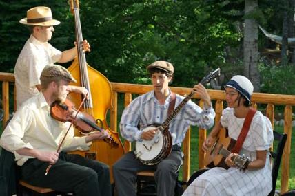 Old-time strings. The Tallboys String Band performs at the Old-Time Music Celebration on Saturday. Photo courtesy of The Tallboys String Band