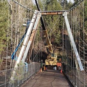 Mazama suspension bridge gets upgrade