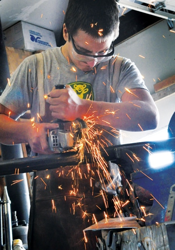 Jachin Anderson welded in an Independent Learning Center class. Photo by Sue Misao