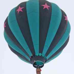 The Outer Limits balloon out of Newberg, Oregon, landing at the North Cascades Smokejumper base. Photo by Darla Hussey