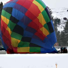 Alas, entertaining juxtapositions aside, this balloon has reached the end of its flight for the day. Photo by Darla Hussey