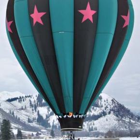 The Outer Limits balloon settled to a final landing spot in the middle of a runway at North Cascades Smokejumper Base. Photo by Darla Hussey