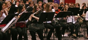 Talented middle school musicians from all over the region filled the Brewster High School gymnasium. Photo by Darla Hussey