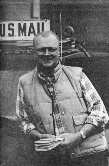 LAST GENERATION.  Mail carrier and noted photographer Dick Webb smiles from the other side of the camera only days before his retirement. Photo from the Methow Valley News archives.