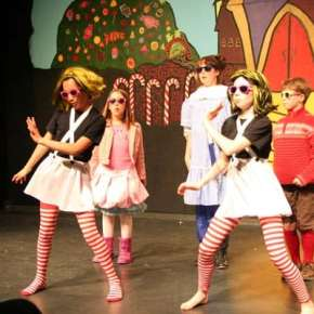 The Oompa Loompas and the children who didn't pass Wonka's test perform entertaining — and educational — musical numbers together. Photo by Darla Hussey