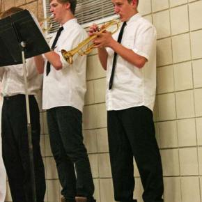 """""""Blue Tango"""" gave the jazz band trumpets a chance to show off their chops. Photo by Darla Hussey"""