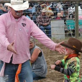 Lucien Paz is Mr. Mutton Buster at Methow Valley Rodeo