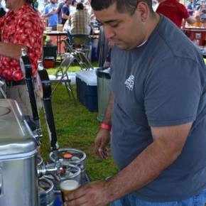 Daniel Rios of Iron Horse Brewery in Ellensburg,  served up fresh brews. Photo by Laurelle Walsh