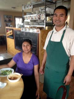 Alejandro and Christina Lopez kept La Fonda Lopez open throughout the recent power outage. Photo by Sally Gracie