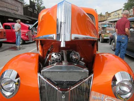 This hot-orange 1940 Ford pickup was one of several dozen classic cars and trucks on display at last year's Winthrop Vintage Wheels Show. File photo by Don Nelson