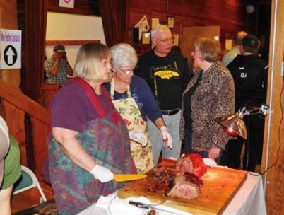 Photo courtesy of Don Carlson The usual full house was on hand to enjoy the food and bid for auction items at Saturday's Bite of the Methow in the Winthrop Barn.