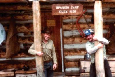 Photo courtesy of Callie Fink Ellis Fink, right, with his U.S. Forest Service mentor Jim Abel at Spanish Camp.