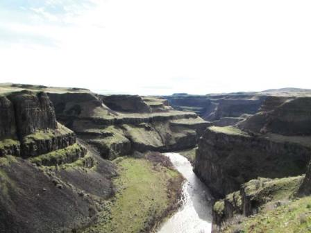 Photo by Joanna Bastian Ice Age flood views above the Palouse River are stunning this time of year.
