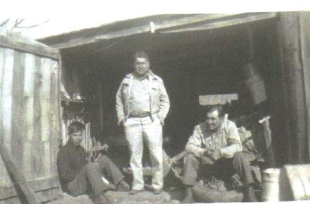 Photo provided by Chuck Borg, courtesy of the Miller family.Left to right, brothers Albert, Henry, and Jerome Miller.