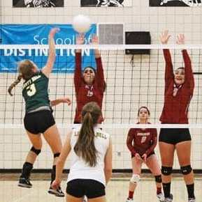 Lady Lions bounce back for dramatic volleyball win over visiting Waterville squad