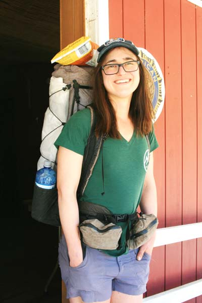 Photo by Marcy Stamper Anne Dios walked off the war by hiking from Mexico to Canada. She said the hike had restored her faith in humanity and in the military.