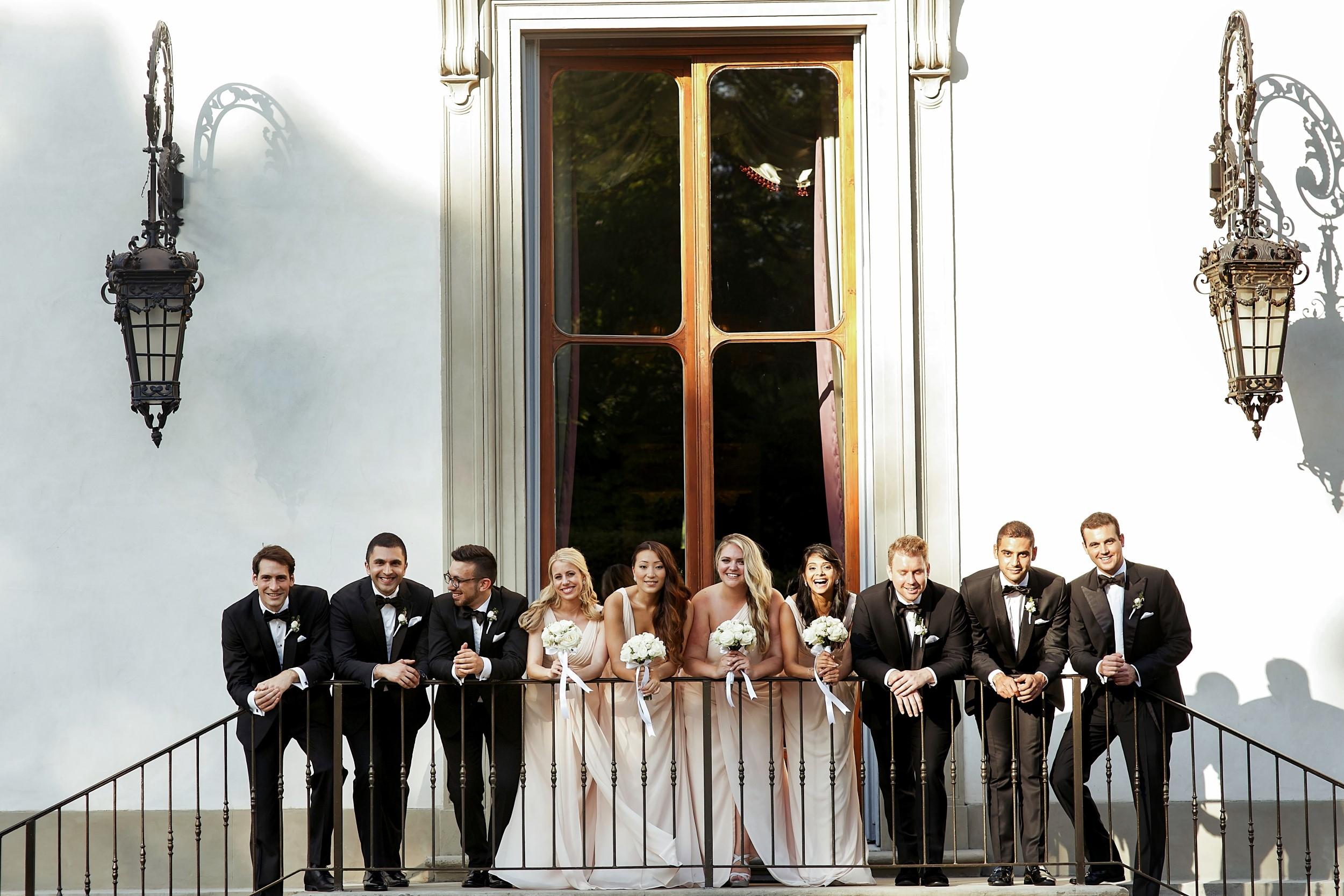 BRIDESMAIDS WITH BEST MEN 005874 (Custom)