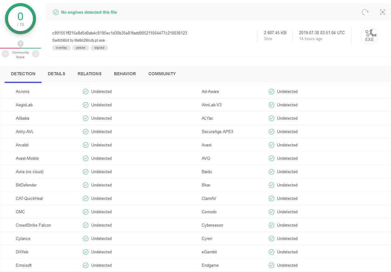 SwitchBot Virus Scan