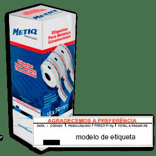 Etiquetas P/balança Convencional CX 4.800UN (18x74mm)