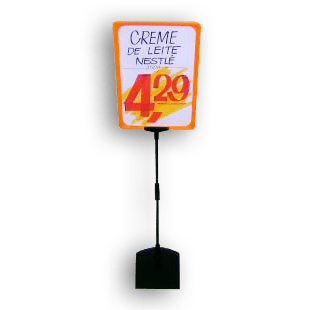 Expositor De Preço A4 (BMTT) – Laranja