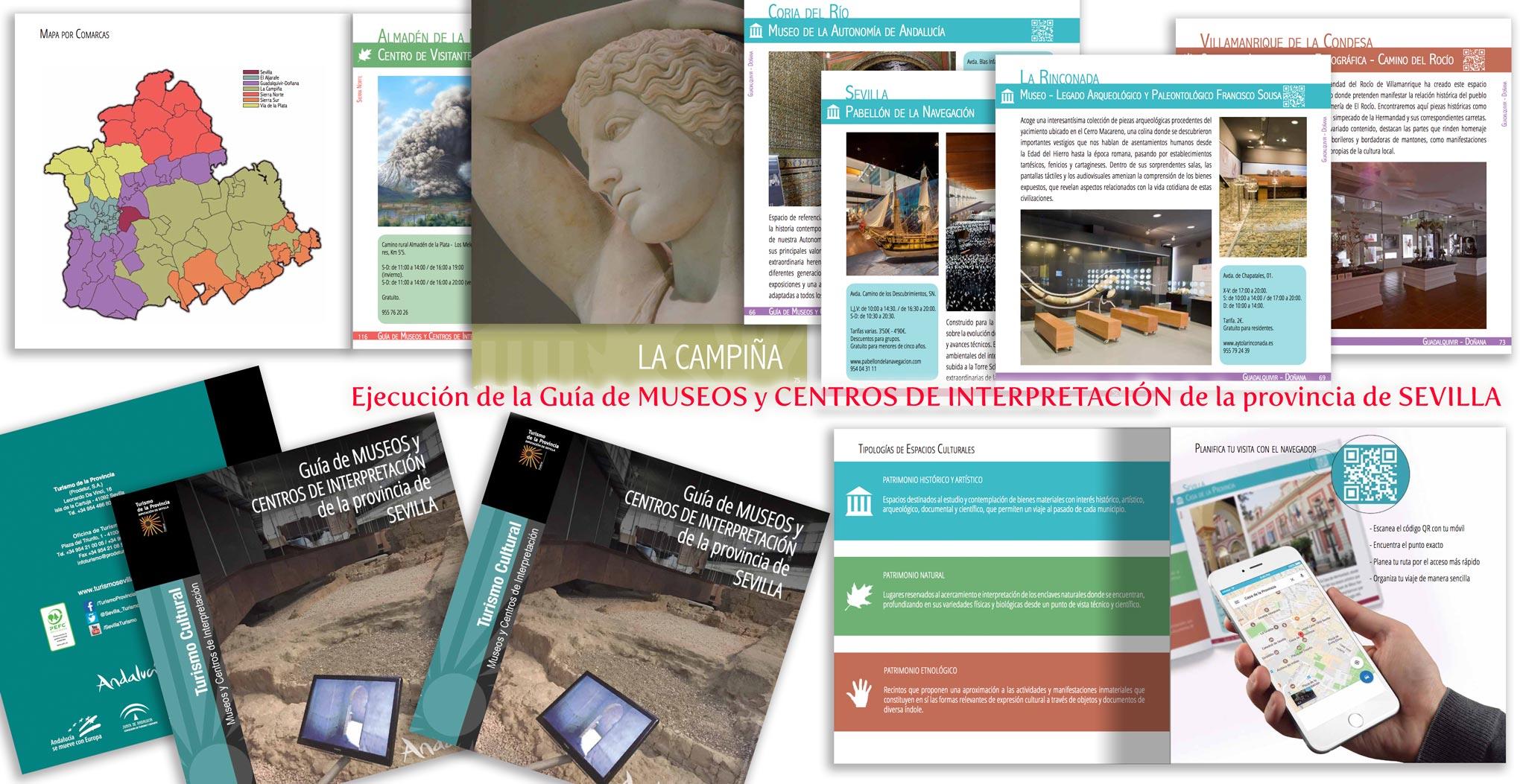 Ejecución de la Guía de MUSEOS y CENTROS DE INTERPRETACIÓN de la provincia de SEVILLA
