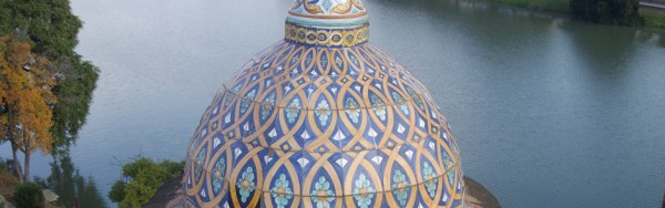 Reintegración de azulejos en la cúpula de la Capillita del Carmen. Sevilla.