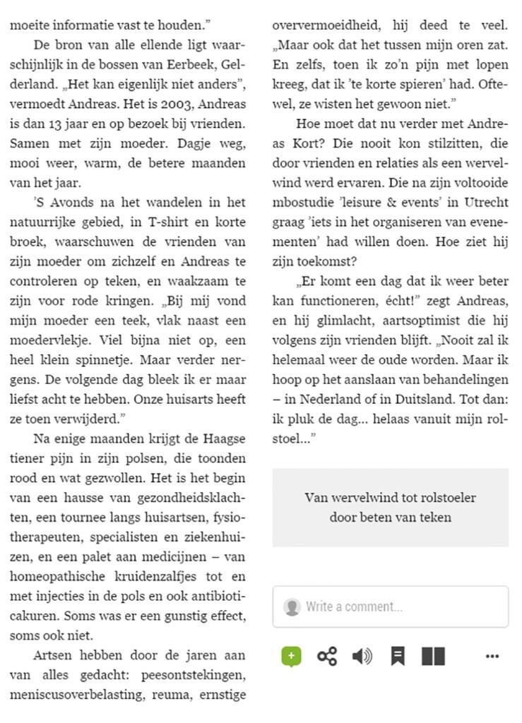 Interview Telgraaf 2