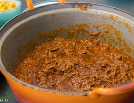 Mexicaans uit elkaar getrokken rundvlees