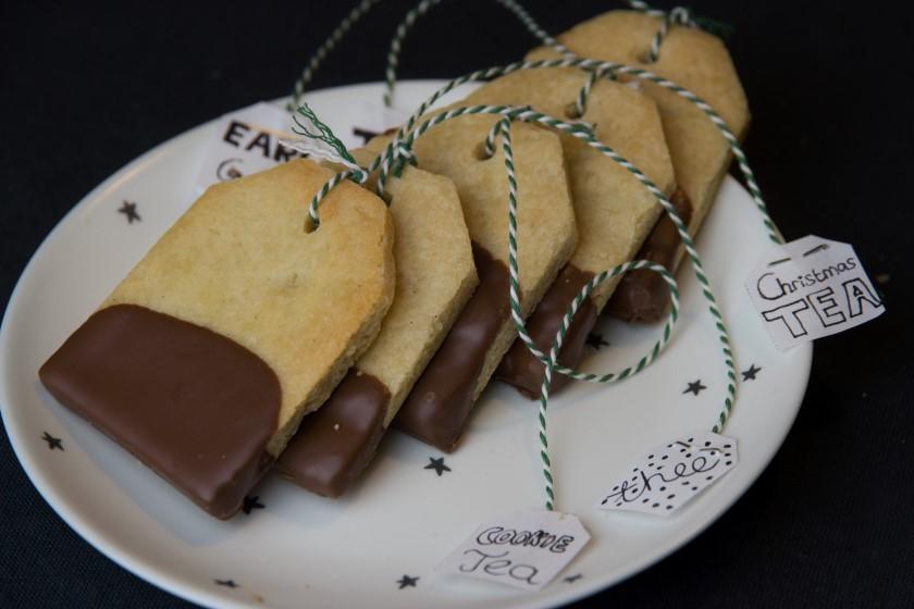 Teabag shortbread cookies